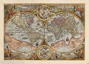 1594 Orbis Terrarum Typus De Integro Multis In Locis Emendatus auctore Petro