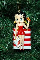Betty Boop With Shopping Bag Christmas Ornament