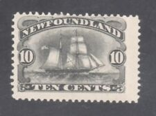 NEWFOUNDLAND STAMP #59  --  10c SCHOONER -- 1887 - UNUSED