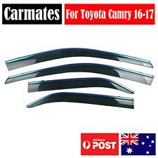 Window Weather Shield Visor For Toyota Camry 16-17 4 Doors double sided tape