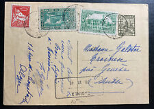 1940 Alger Algeria Stationery Postcard Cover To Geneva Switzerland