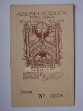 TRIESTE CAPODISTRIA 1929 tessera AZIONE CATTOLICA ITALIANA uomini