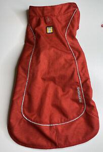 Ruffwear Overcoat Fleece Lined Jacket Vest Medium Dog Red Reflective Walk Hike