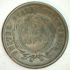 1866 US Shield Two Cent Bronze Coin 2c US Type Coin Good
