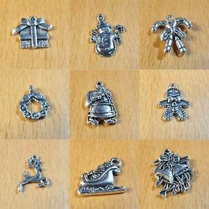 Christmas Xmas Charms in Tibetan Silver ASSORTED DESIGNS