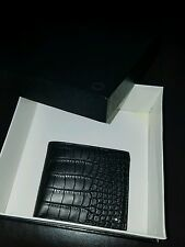 montblanc wallet alligator print soft leather 8cc double horizontal loc so cil