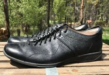 Fossil Men's Black Leather Lace Up Split Toe Fashion Sneakers Size 11.5M US