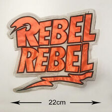DAVID BOWIE LARGE REBEL REBEL ORANGE BACK SEW ON PATCH LOGO NEW RARE