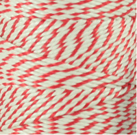 10 metres Bakers - Butchers 2ply Red and White Christmas - Craft String - Twine