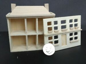 """Dollhouse Miniature Wood Front Open Dollhouse for your Dollhouse Children.2 3/4"""""""