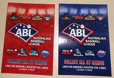 2018/19 ABL Checklist Team Set (Australian Baseball League)