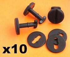 10x BMW Floor Carpet Mat Clips E36 E46 E38 E39 Series Twist Lock with Washers