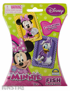 Minnie Mouse Fish Card Game Disney Kids Girls Toy 36 Cards Pink Daisy Duck New