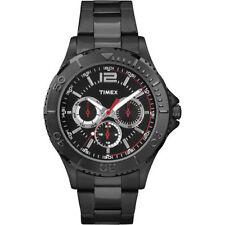 Timex TW2P87700, Men's Taft Black Bracelet Multi-Function Watch, TW2P877009J,