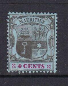 Mauritius - SG 167a - m/m - 1904/07 - 4c - black & carmine/blue