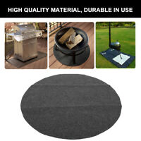 91.4cm Outdoor BBQ Grill Protective Mat Round Floor Pad Fireproof Oil Resistant