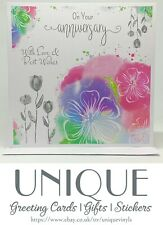 On your Anniversary | Anniversary Greeting Card | Handmade/Drawn/Abstract Design