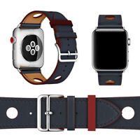 Genuine Leather Watch Band Bracelet  Strap For Apple Watch Series 4 3 2 1