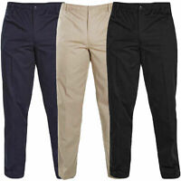 Mens Rugby Trousers Fully Elasticated Waist Smart Trouser pants 32 - 60 sizes