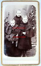 CDV PHOTO FIN XIX LOUIS LAGRAVERAND à JOIGNY YONNE FRATRIE ENFANTS  j982