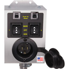 TWO CIRCUIT Generator Transfer Switch (DIY KIT) 15 Amps 125 Volt Gas Furnace