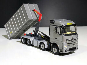 Mercedes Actros 8x4 Palfinger hooklift system+container,WSI truck models 04-2047