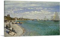 ARTCANVAS Regatta at Sainte-Adresse 1867 Canvas Art Print by Claude Monet