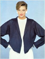Ladies' DK Edge to Edge Sailor Collar Jacket Vintage Knitting Pattern 10044