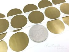 """500 - Scratch Off Labels 1.50"""" Round Gold Stickers"""