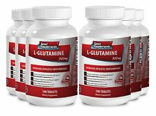 BCAA - L-GLUTAMINE 500mg - Building Up Your Energy Capsules 6B