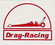 """Aufkleber    """"Drag-Racing""""   13 x 10 cm,  Schriftfarbe rot für den Dragster-Fan"""