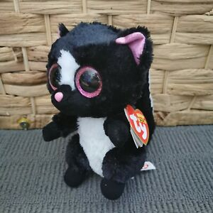 BNWT Ty Beanie Boos 2017 Flora Plush Skunk Animal Collectable Toy
