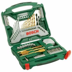 Bosch 2607019329 70 Piece Titanium X-Line Drill and Screwdriver Bit Set (302899)