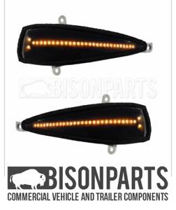Fits Honda Civic MK8 05-12 Wing Mirror Dynamic LED Indicator Lens Pair HON009/10
