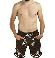 Adam Lederhosen Sweatpants Short - Oktoberfest Fleece Jogger Sweat Pants Adam L