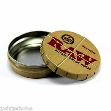 RAW Rolling Papers Branded Storage Tin Tobacco Herb Metal Pocket Box Or Ashtray