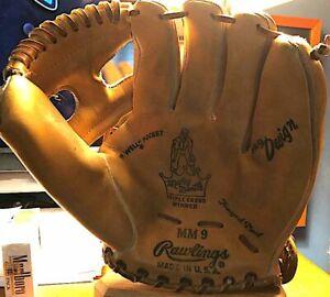 Vintage Mickey Mantle Rawlings MM9 Glove New York Yankees HOF