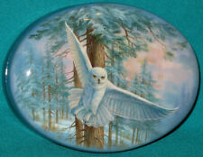 """AMAZING! """"White Owl"""" Russian Hand Painted Fedoskino LACQUER BOX"""