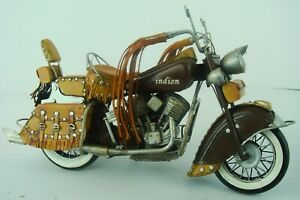 Indian Motorcycle Metal Detailed Collector Edition Toy Sculpture Hand Made Decor