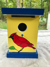 Birdhouse hand made hand painted Cardinals