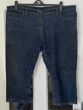 FAB EVANS BLUE DENIM STRETCH CROPPED JEANS - SIZE 24!!