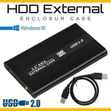 "USB 2.0 SATA Hard Drive External Enclosure 2.5"" HDD Disk Laptop Caddy Case US"