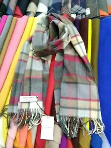 100% Lambswool Stole | Lochcarron | Made in Scotland | Old Town Mulberry | Scarf
