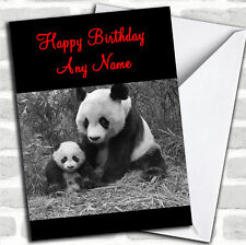 Panda & Baby Birthday Customised Card
