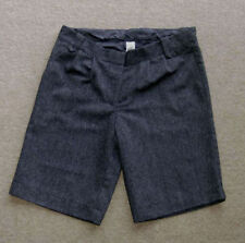 Wool Patternless Mid Rise Shorts for Women