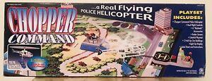 Rare Vintage Jasman Chopper Command  Police Flying Helicopter NIB Vertibird