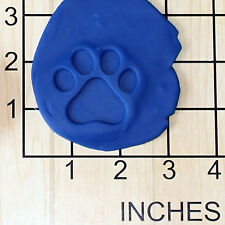 Paw Print Shape Cupcake Size Decorating Fondant Stamp and Handle #1460
