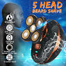 5 Head Men Rechargeable Electric Shaver Razor Bald Hair Clipper Trimmer Remover