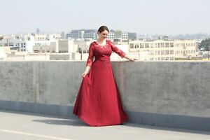 NEW 3/4 SLEEVE FORMAL EVENING GOWN LONG MOTHER OF THE GROOM DRESS & PLUS SIZE