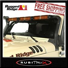 Rugged Ridge 11232.25 LED Windshield Light Bar Mount Jeep Wrangler JK 2007-2017